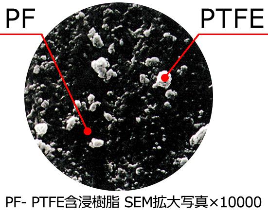 MD2500/2500F PF・PTFE含浸樹脂 SEM拡大写真x10000